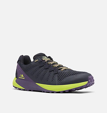 Men's F.K.T.™ Trail Running Shoe COLUMBIA MONTRAIL F.K.T.™ | 444 | 7, Extreme Midnight, Acid Green, 3/4 front