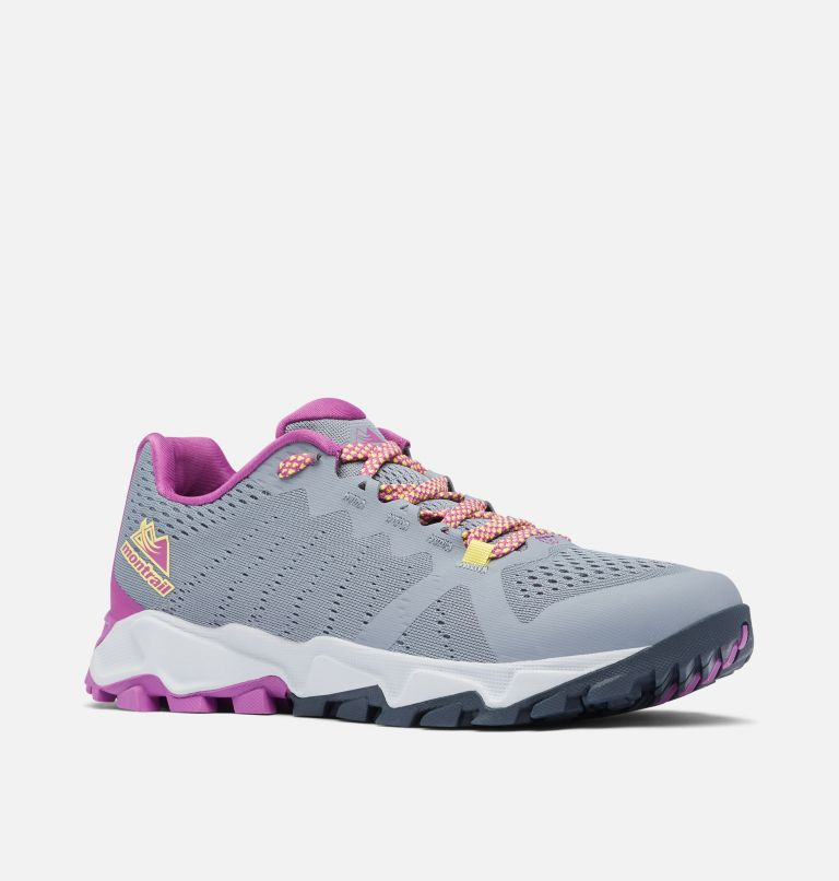 TRANS ALPS™ F.K.T. III | 021 | 11 Women's Trans Alps™ F.K.T.™ Shoe, Grey Ash, Berry Jam, 3/4 front