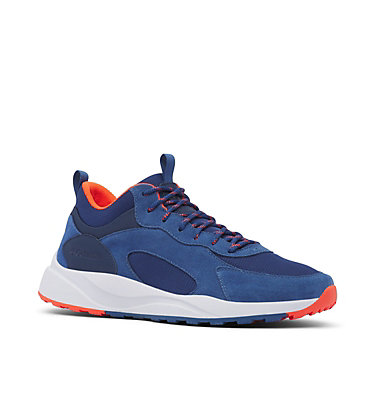 Men's Pivot™ Mid Waterproof Shoe PIVOT™ MID WP | 469 | 10.5, Carbon, Blood Orange, 3/4 front