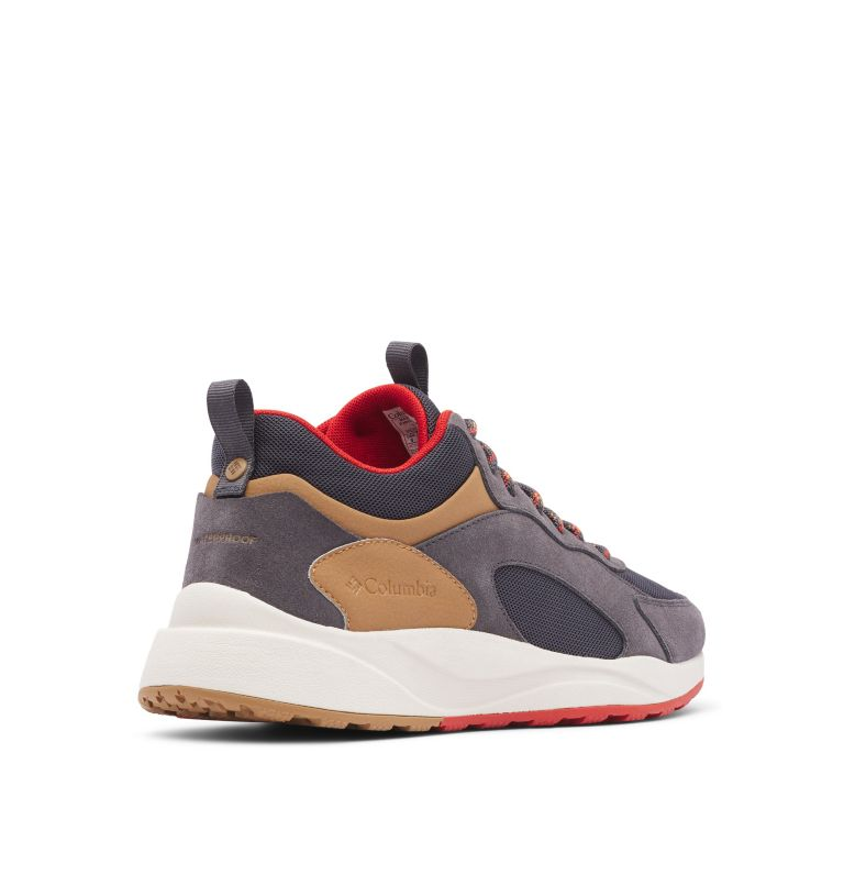 PIVOT™ MID WP WIDE | 089 | 10.5 Men's Pivot™ Mid Waterproof Shoe - Wide, Dark Grey, Rust Red, 3/4 back