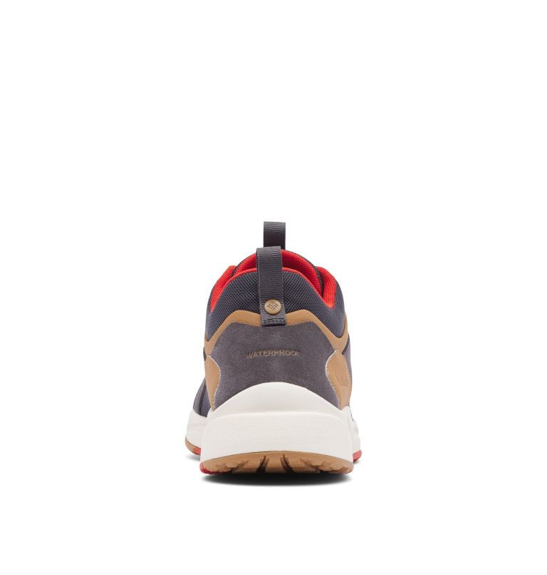PIVOT™ MID WP WIDE | 089 | 10.5 Men's Pivot™ Mid Waterproof Shoe - Wide, Dark Grey, Rust Red, back