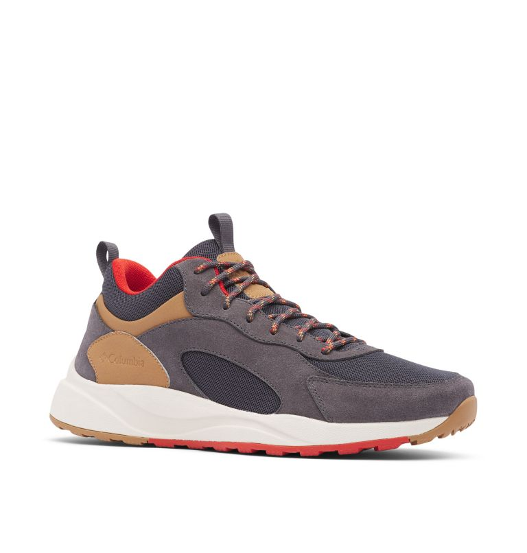 PIVOT™ MID WP WIDE | 089 | 10.5 Men's Pivot™ Mid Waterproof Shoe - Wide, Dark Grey, Rust Red, 3/4 front