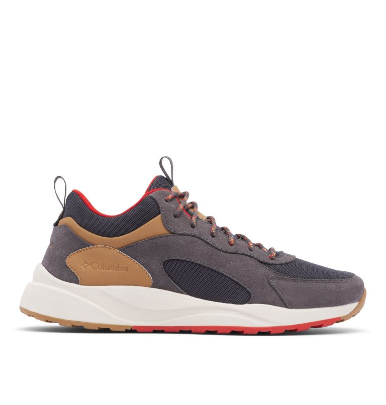 PIVOT™ MID WP WIDE | 089 | 10.5 Men's Pivot™ Mid Waterproof Shoe - Wide, Dark Grey, Rust Red, front