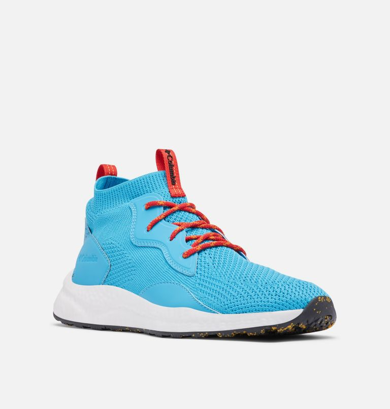 SH/FT™ MID BREEZE | 434 | 12 Men's SH/FT™ Mid Breeze Shoe, Cyan Blue, Black, 3/4 front