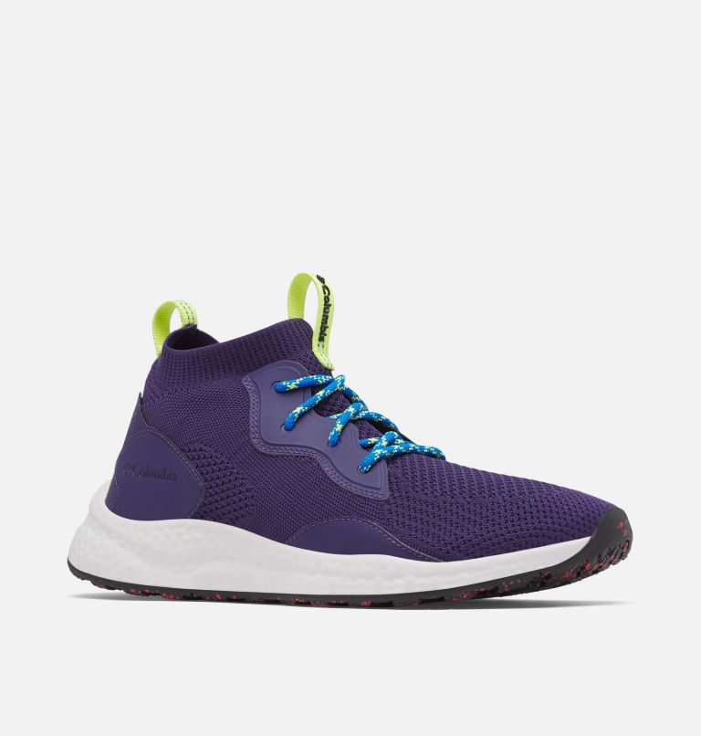 SH/FT™ MID BREEZE | 527 | 15 Men's SH/FT™ Mid Breeze Shoe, Deep Purple, Silver Grey, 3/4 front