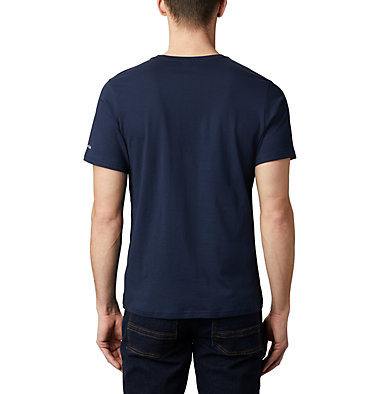 Camiseta Rapid Ridge™ para hombre M Rapid Ridge™ Graphic Tee | 845 | L, Collegiate Navy, Sky Blue Framed Floral, back