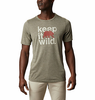 T-shirt Terra Vale™ II da uomo Terra Vale™ II SS Tee | 835 | L, New Olive Heather Keep It Wild, front