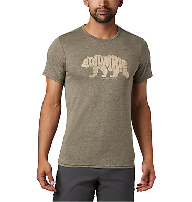 T-shirt Terra Vale™ II da uomo Terra Vale™ II SS Tee | 835 | L, New Olive Heather Grizzly Walk, front