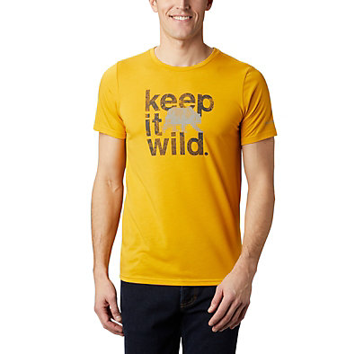 Men's Terra Vale™ II T-Shirt Terra Vale™ II SS Tee | 835 | L, Bright Gold Keep It Wild, front