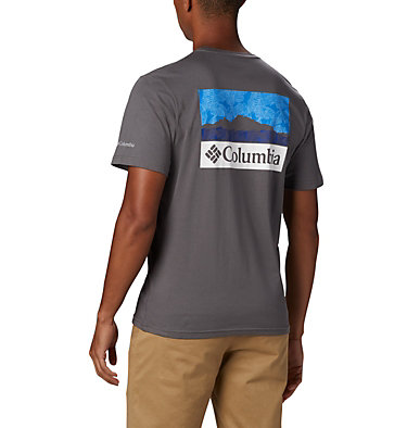 T-shirt con grafica Rapid Ridge™ da uomo M Rapid Ridge™ Back Graphic | 790 | S, City Grey CSC Leafscape, back