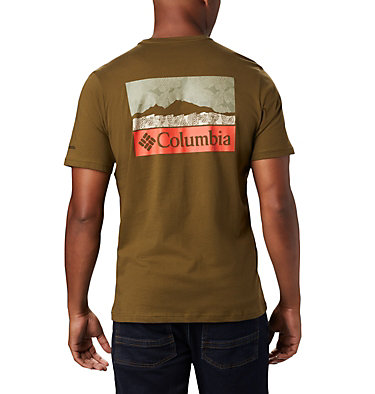 T-shirt con grafica Rapid Ridge™ da uomo M Rapid Ridge™ Back Graphic | 790 | S, New Olive CSC Leafscape, back