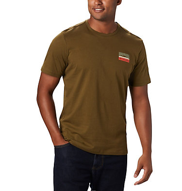 T-shirt con grafica Rapid Ridge™ da uomo M Rapid Ridge™ Back Graphic | 790 | S, New Olive CSC Leafscape, front