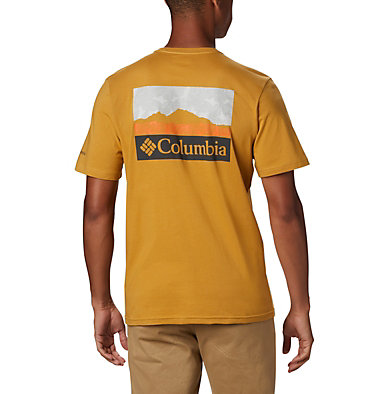 T-shirt con grafica Rapid Ridge™ da uomo M Rapid Ridge™ Back Graphic | 790 | S, Dark Banana CSC Leafscape, back