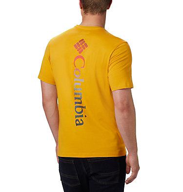 T-shirt con grafica Rapid Ridge™ da uomo M Rapid Ridge™ Back Graphic | 790 | S, Bright Gold CSC Textured Dot, back