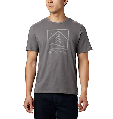 Men's Bluff Mesa™ Graphic T-Shirt M Bluff Mesa™ Graphic Tee | 613 | L, City Grey Outdoor Icon, front