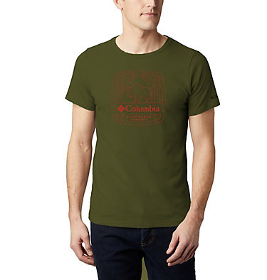 Men's Bluff Mesa™ Graphic T-Shirt M Bluff Mesa™ Graphic Tee | 790 | M, New Olive CSC Wireframe, front