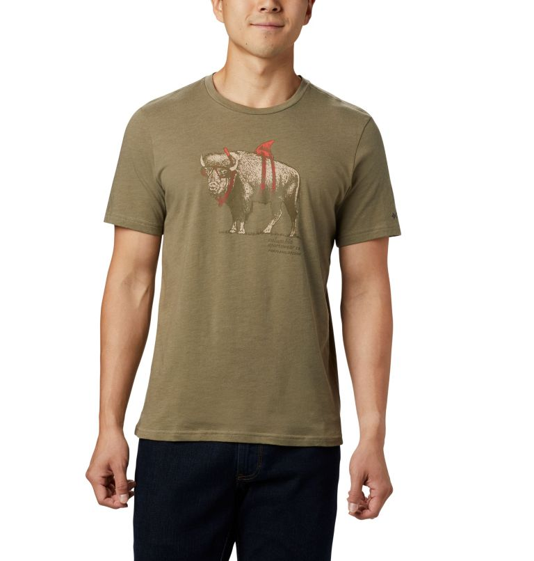 M Piney Falls™ Graphic Tee | 365 | M Men's Piney Falls™ Graphic Tee, Sage Sharkalo, front