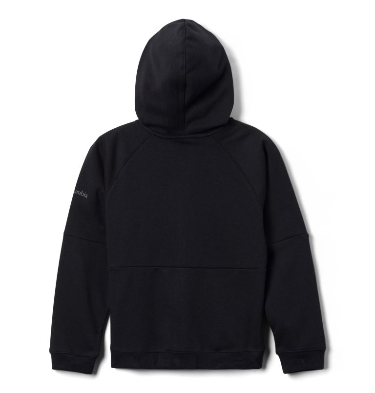 Columbia™ BrandedFrench Terry Full Zip  | 010 | L Kids' Columbia™ Branded French Terry Full Zip Hoodie, Black Logo, a1