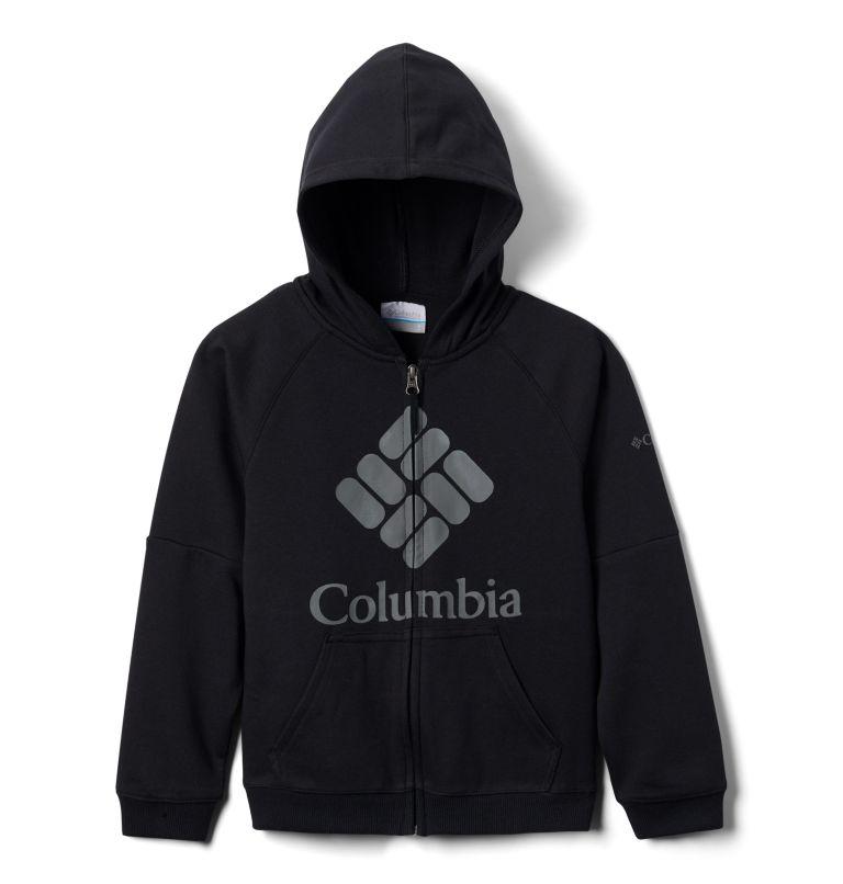 Columbia™ BrandedFrench Terry Full Zip  | 010 | L Kids' Columbia™ Branded French Terry Full Zip Hoodie, Black Logo, back