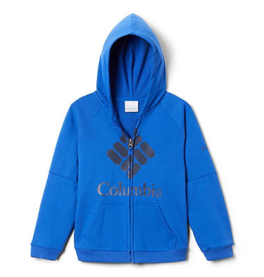 Sweat à Capuche Garçon Columbia™ BrandedFrench Terry Full Zip  | 010 | L, Azul, front