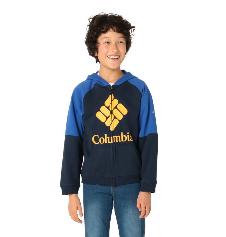 Kids' Columbia™ Branded French Terry Full Zip Hoodie Kids' Columbia™ Branded French Terry Full Zip Hoodie, front