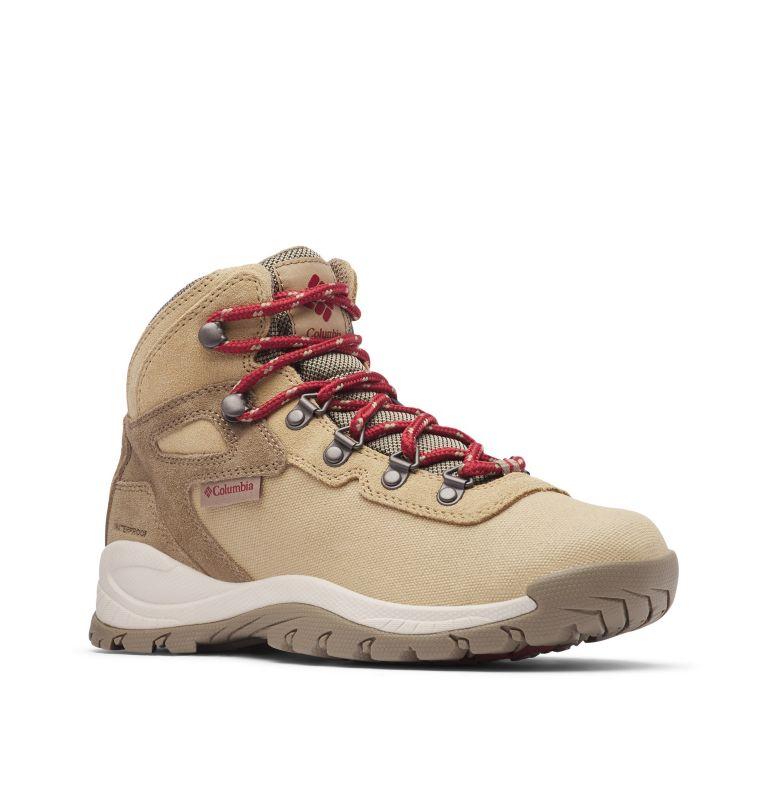 NEWTON RIDGE™ LT WP | 214 | 9.5 Women's Newton Ridge™ Canvas Waterproof Hiking Boot, Beach, Marsala Red, 3/4 front