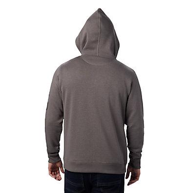 Men's Columbia™ Logo Full Zip Fleece Hoodie M Columbia™ Logo Fleece FZ   030   L, Charcoal, Black, back
