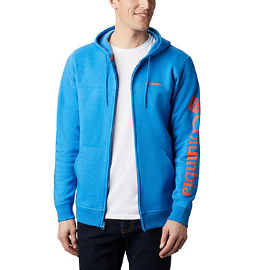 Columbia™ Full Zip Logo Fleecejacke für Herren  M Columbia™ Logo Fleece FZ | 010 | L, Azure Blue Heather, Wildfire, front
