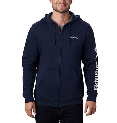 Columbia™ Full Zip Logo Fleecejacke für Herren  M Columbia™ Logo Fleece FZ | 010 | L, Collegiate Navy, White, front