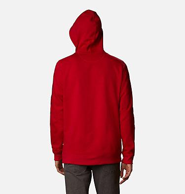 Men's Columbia™ Logo Full Zip Fleece Hoodie M Columbia™ Logo Fleece FZ   030   L, Mountain Red, Black, back