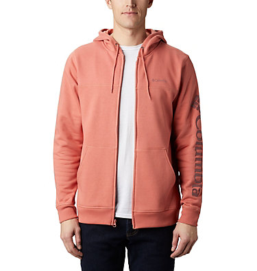 Columbia™ Full Zip Logo Fleecejacke für Herren  M Columbia™ Logo Fleece FZ | 010 | L, Dark Coral, Red Jasper, front