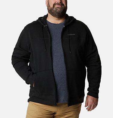 Men's Columbia™ Logo Full Zip Fleece – Big M Columbia™ Logo Fleece FZ | 023 | 1X, Black, City Grey, front