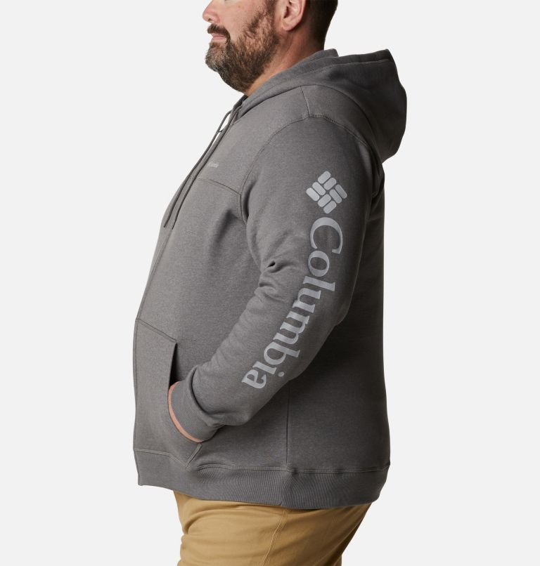 M Columbia™ Logo Fleece FZ | 023 | 2X Men's Columbia™ Logo Full Zip Fleece – Big, City Grey Heather, Columbia Grey, a1