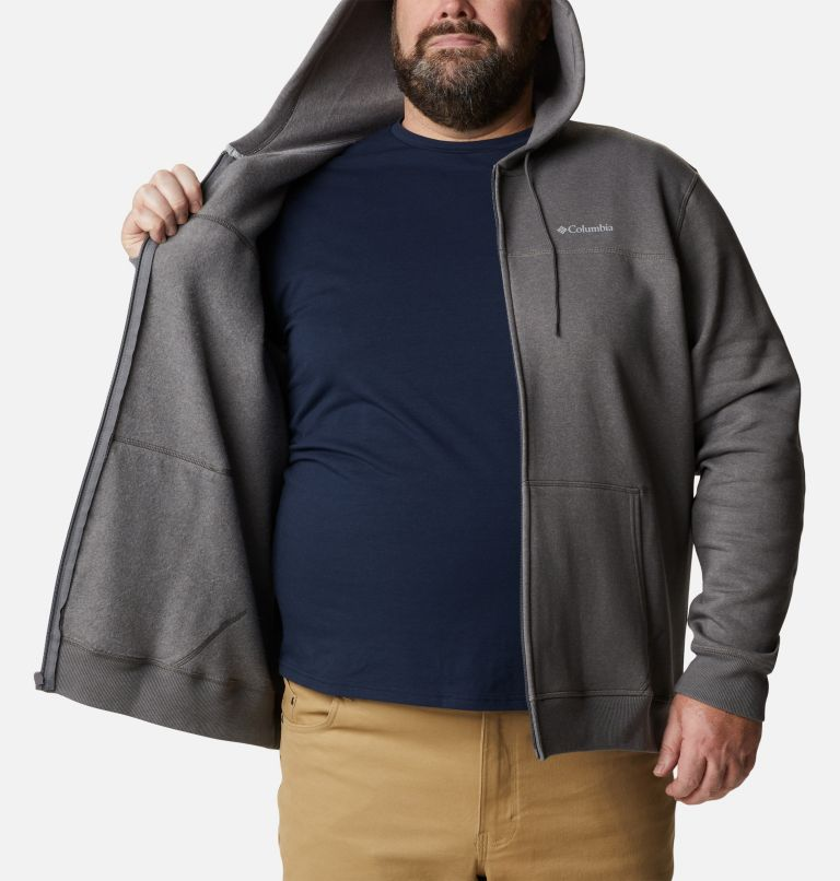M Columbia™ Logo Fleece FZ | 023 | 2X Men's Columbia™ Logo Full Zip Fleece – Big, City Grey Heather, Columbia Grey, a3
