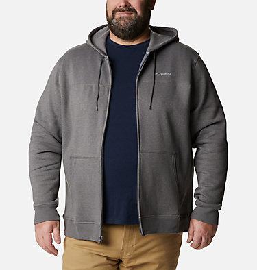 Men's Columbia™ Logo Full Zip Fleece – Big M Columbia™ Logo Fleece FZ | 023 | 1X, City Grey Heather, Columbia Grey, front
