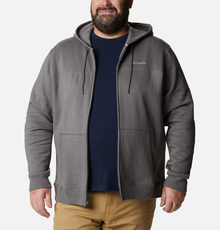 M Columbia™ Logo Fleece FZ | 023 | 2X Men's Columbia™ Logo Full Zip Fleece – Big, City Grey Heather, Columbia Grey, front