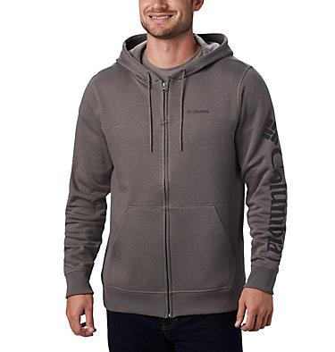 Men's Columbia™ Logo Full Zip Fleece – Big M Columbia™ Logo Fleece FZ | 023 | 1X, Charcoal, Black, front