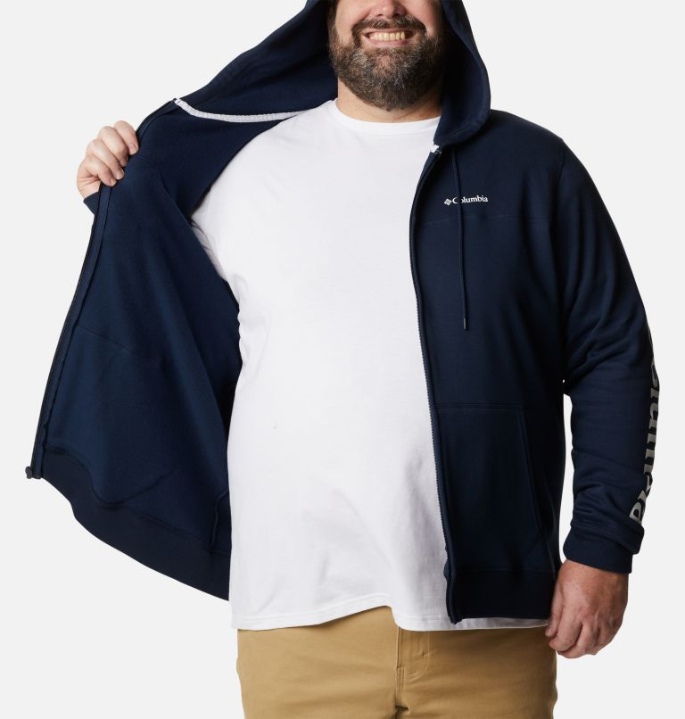 M Columbia™ Logo Fleece FZ | 464 | 5X Men's Columbia™ Logo Full Zip Fleece – Big, Collegiate Navy, White, a3