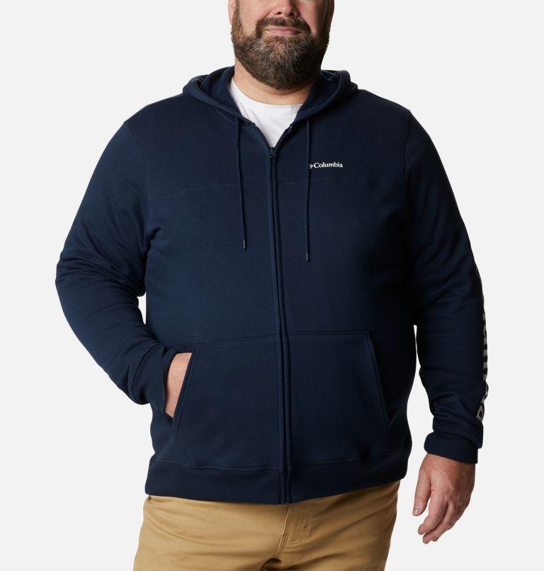 M Columbia™ Logo Fleece FZ | 464 | 5X Men's Columbia™ Logo Full Zip Fleece – Big, Collegiate Navy, White, front