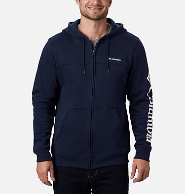 Men's Columbia™ Logo Fleece Hoodie M Columbia™ Logo Fleece FZ | 010 | S, Collegiate Navy, White, front