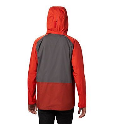 Men's Rain Scape™ Jacket Rain Scape™ Jacket | 370 | S, City Grey, Wildfire, Carnelian Red, back