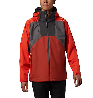Men's Rain Scape™ Jacket Rain Scape™ Jacket | 370 | S, City Grey, Wildfire, Carnelian Red, front