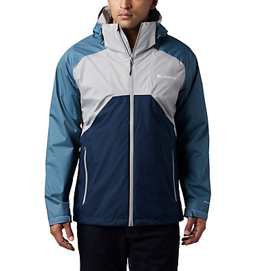 Men's Rain Scape™ Jacket Rain Scape™ Jacket | 010 | L, Columbia Grey, Mountain, Collegiate Navy, front