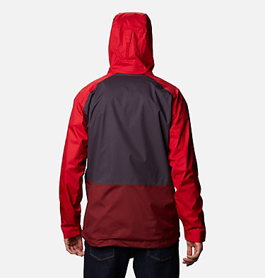 Men's Rain Scape™ Jacket Rain Scape™ Jacket | 370 | S, Dark Purple, Mtn Red, Red Jasper, Shark, back