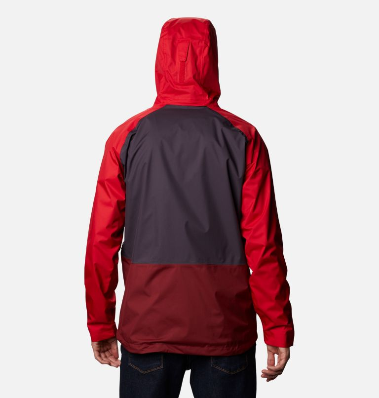 Rain Scape™ Jacket | 511 | XL Men's Rain Scape™ Jacket, Dark Purple, Mtn Red, Red Jasper, Shark, back