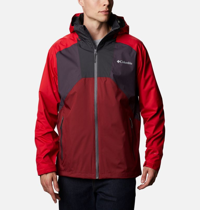 Rain Scape™ Jacket | 511 | XL Men's Rain Scape™ Jacket, Dark Purple, Mtn Red, Red Jasper, Shark, front