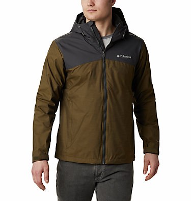 Men's Ridge Gates™ Jacket – Extended Size Ridge Gates™ Jacket | 010 | 1X, Olive Green Slub, Shark, front