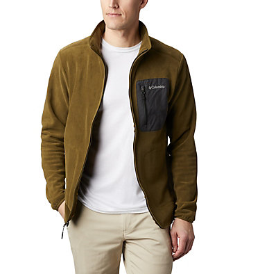 Men's Exploration™ Full Zip Fleece Exploration™ FZ Fleece | 010 | L, New Olive, Shark, front