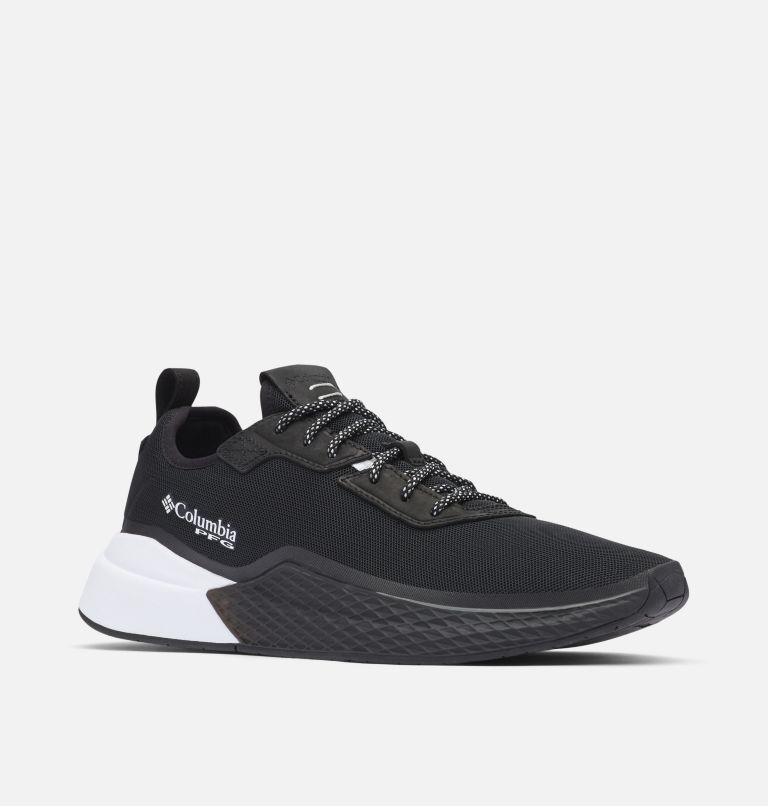 LOW DRAG™ PFG | 010 | 8.5 Men's PFG Low Drag™ Shoe, Black, White, 3/4 front
