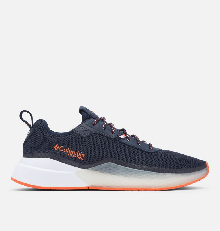 LOW DRAG™ PFG | 464 | 9.5 Men's PFG Low Drag™ Shoe, Collegiate Navy, Tangy Orange, front